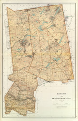 Hamilton and Herkimer County New York 1895 - Old Map Reprint - Bien Atlas
