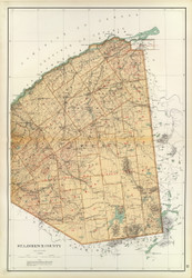 St Lawrence County - Eastern Part - New York 1895 - Old Map Reprint - Bien Atlas