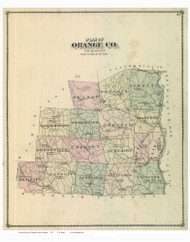 Orange County Vermont 1877 - F.W. Beers - Old Map Reprint - VT County Other