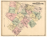 Orleans County Vermont 1878 - F.W. Beers - Old Map Reprint - VT County Other