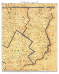 Essex County Vermont 1821 Old Map Custom Print - J. Whitelaw