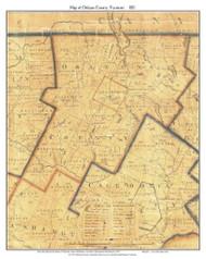 Orleans County Vermont 1821 Old Map Custom Print - J. Whitelaw