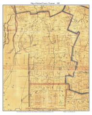 Rutland County Vermont 1821 Old Map Custom Print - J. Whitelaw