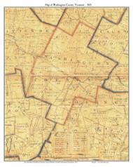 Washington County Vermont 1821 Old Map Custom Print - J. Whitelaw