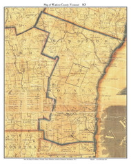 Windsor County Vermont 1821 Old Map Custom Print - J. Whitelaw