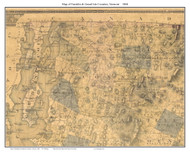 Franklin & Grand Isle County Vermont 1860 Old Map Custom Print - H.F. Walling
