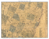 Orange County Vermont 1860 Old Map Custom Print - H.F. Walling