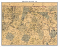 Orleans County Vermont 1860 Old Map Custom Print - H.F. Walling