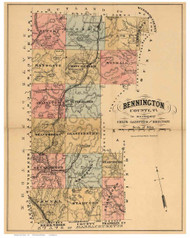 Bennington County Vermont 1880 Old Map Reprint - Gazetteers