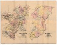 Caledonia & Essex County Vermont 1887 Old Map Reprint - Gazetteers