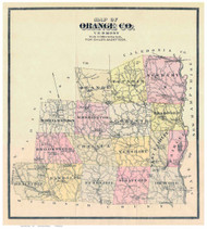 Orange County Vermont 1888 Old Map Reprint - Gazetteers