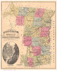 Windsor County Vermont 1880 Old Map Reprint - Gazetteers