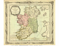 Ireland 1766 Brion - Old Map Reprint