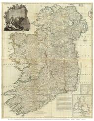 Ireland 1790 Roque - Old Map Reprint