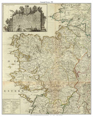 Ireland, Connaught Province - 1790 Roque - Old Map Custom Print