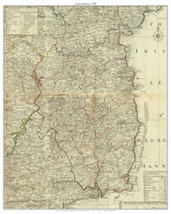 Ireland, Leinster Province - 1790 Roque - Old Map Custom Print