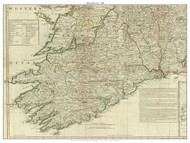 Ireland, Munster Province - 1790 Roque - Old Map Custom Print