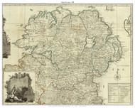 Ireland, Uslter Province - 1790 Roque - Old Map Custom Print
