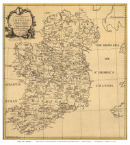Ireland 1795 Thompson - Old Map Reprint