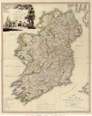 Ireland 1797 Beaufort - Old Map Reprint