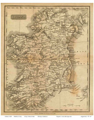 Ireland 1825 Carey - Old Map Reprint