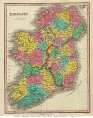 Ireland 1831 Finley - Old Map Reprint