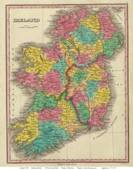 Ireland 1831 Finley - Old Map Reprint