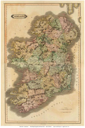 Ireland 1831 Lizars - Old Map Reprint