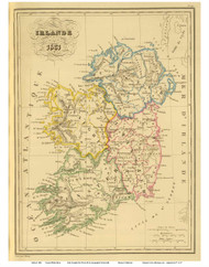 Ireland 1831 Malte-Brun - Old Map Reprint