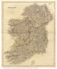 Ireland 1832 Arrowsmith - Old Map Reprint