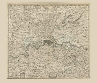 Old Map of London 1686 Morden - Old Map Reprint