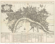 Old Map of London 1920 Senex - Old Map Reprint