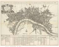 Old Map of London 1920 Senex - Old Map Reprint
