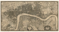 Old Map of London 1746 Rocque - Old Map Reprint