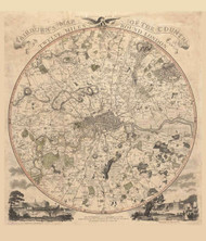 Old Map of London 1800 Fairburn - Old Map Reprint