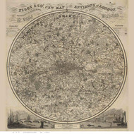 Old Map of London 1832 Pigot - Old Map Reprint