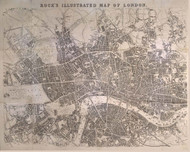 Old Map of London 1845 Rocks - Old Map Reprint