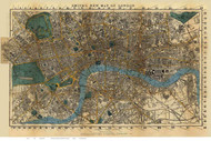Old Map of London 1860 Smith - Old Map Reprint
