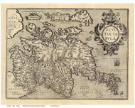 Scotland 1608 Ortelius - Old Map Reprint
