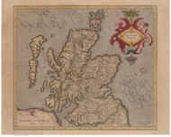 Scotland 1628 Mercator - Old Map Reprint