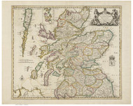 Scotland 1689 Greene - Old Map Reprint