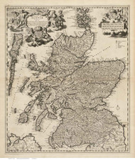 Scotland 1689 Visscher - Old Map Reprint