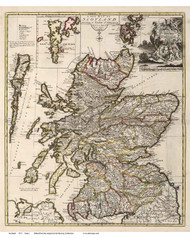 Scotland 1721 Senex - Old Map Reprint