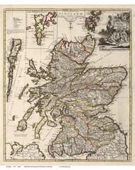 Scotland 1721 Senex - Old Map Reprint