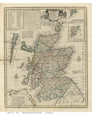 Scotland 1752 Bowen - Old Map Reprint