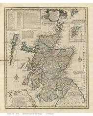 Scotland 1752 Bowen - Old Map Reprint