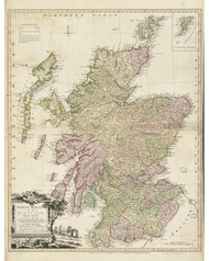 Scotland 1778 Kitchin - Old Map Reprint