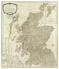 Scotland 1790 Campbell - Old Map Reprint