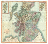 Scotland 1801 Cary - Old Map Reprint - Geographicus