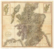 Scotland 1801 Cary - Old Map Reprint - Rumsey